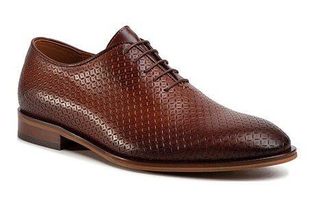 Quazi buty eleganckie męskie z tworzywa sztucznego sznurowane