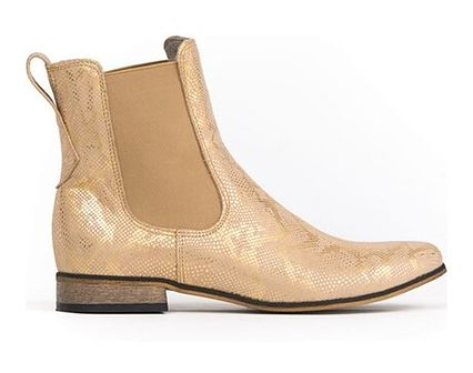 Botki Zapato płaskie skórzane bez zapięcia casual