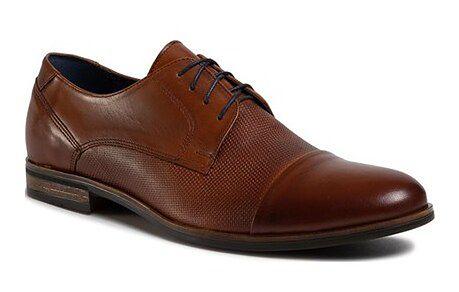 Brązowe buty eleganckie męskie Quazi