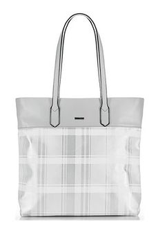 Shopper bag srebrna Wittchen bez dodatków na ramię