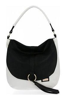 Conci shopper bag średniej wielkości bez dodatków na ramię