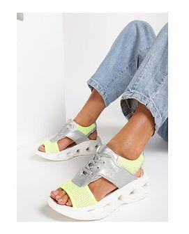 Sandały damskie Renee wiązane bez wzorów z niskim obcasem