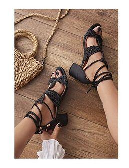 Sandały damskie Renee czarny