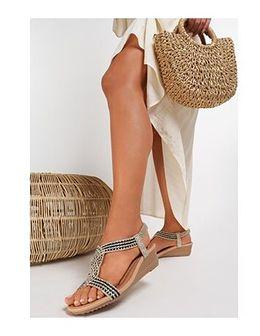 Sandały damskie Renee zloty