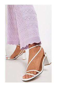 Sandały damskie Renee z klamrą eleganckie na obcasie na wysokim