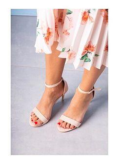 Casu sandały damskie ze skóry eleganckie bez wzorów na lato na obcasie