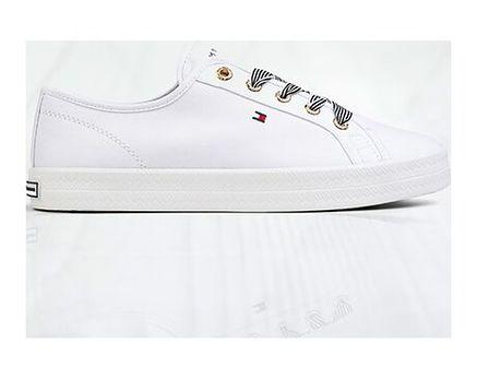 Tommy Hilfiger buty sportowe damskie bez wzorów1 wiązane