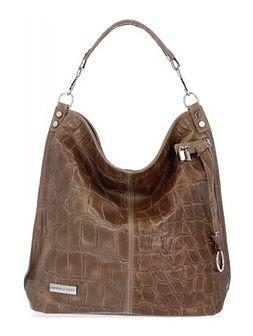Shopper bag Vittoria Gotti skórzana