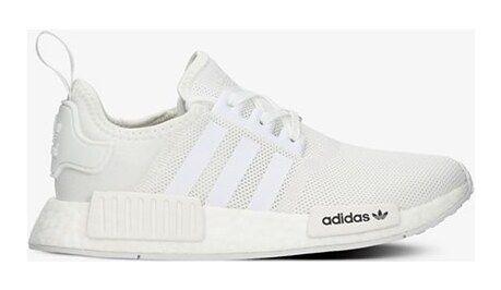 Buty sportowe damskie Adidas nmd płaskie bez wzorów sznurowane