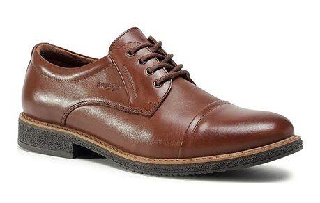 Buty eleganckie męskie jesienne sznurowane