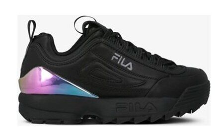 Buty sportowe damskie Fila na platformie młodzieżowe wiązane bez wzorów