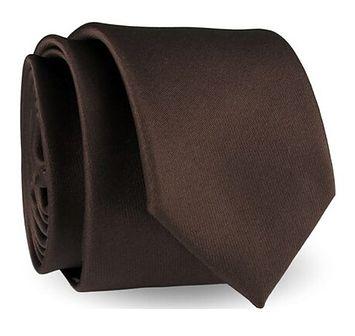 Krawat bez wzorów