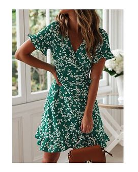 Sukienka w kwiaty mini
