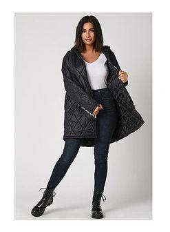Kurtka damska czarna Plus Size Fashion długa