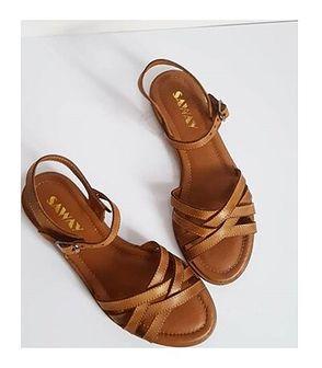 Sandały damskie Saway ze skóry