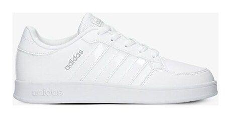 Adidas trampki damskie białe skórzane sznurowane