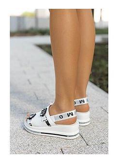 Sandały damskie białe Saway skórzane bez obcasa casualowe