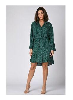 Sukienka Plus Size Company z długimi rękawami mini casual z dekoltem w serek