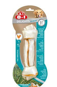 8IN1 Przysmak dental delights bone L