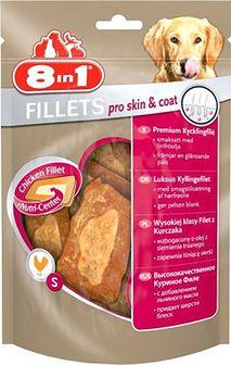 8IN1 Przysmak fillets pro skin & coat S 80 g