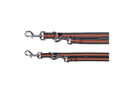 """TRIXIE Smycz """"Fusion adjustable lead""""  L - XL 2 m / 25 mm czarno - pomarańczowy"""