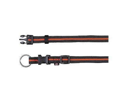 """TRIXIE Obroża """"Fusion collar"""" 35 – 55 cm / 20 mm czarny - pomarańczowy"""