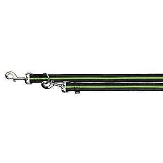 """TRIXIE Smycz """"Fusion adjustable lead""""  L - XL  2 m / 25 mm czarno - zielony"""