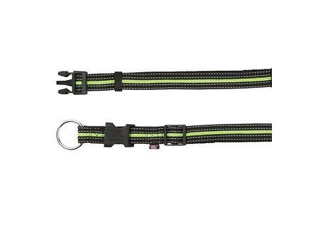 TRIXIE Obroża L - XL  40–65 cm / 25 mm czarno / zielona