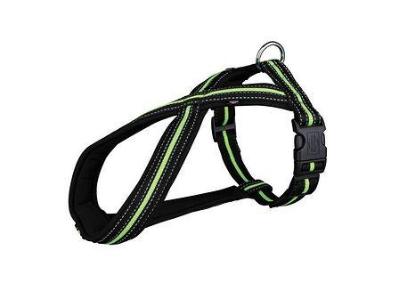 TRIXIE Uprząż 40 - 60 cm / 23 mm / czarny - zielony