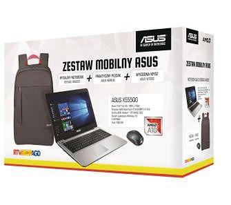 """ASUS X555QG 15,6"""" A10-9600P - 4GB RAM - 1TB Dysk - R5M430 Grafika - Win10 + plecak i mysz"""