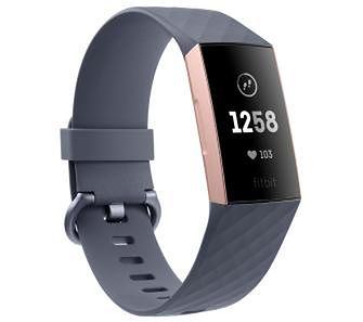 Fitbit Charge 3 (niebiesko-szary/różowo-złoty)