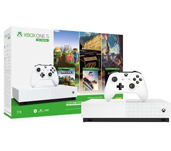 Xbox One S 1TB All-Digital Edition + Minecraft + Sea Of Thieves + Forza Horizon 3