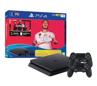 Sony PlayStation 4 Slim 1TB + FIFA 20 + 2 pady
