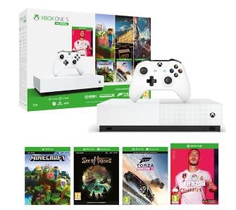 Xbox One S 1TB All-Digital Edition + Minecraft + Sea Of Thieves + Forza Horizon 3 + FIFA 20