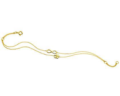 Bransoletka z żółtego złota z diamentem