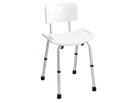 Krzesło pod prysznic z oparciem i regulacją wysokości SECURA, WENKO