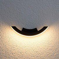 Grafitowa zewnętrzna lampa ścienna LED HALF
