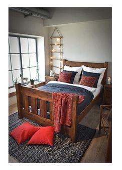 Łóżko drewniane Rustyk / Mieszko 180