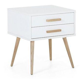 Stolik nocny biały 2 szuflady ALABAMA