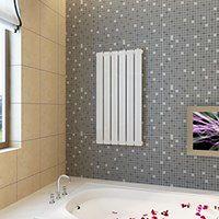 vidaXL Panel grzewczy, kaloryfer biały 465 x 900 mm