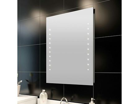 vidaXL Lustro ścienne, łazienkowe, z lampkami LED, 60 x 80 cm