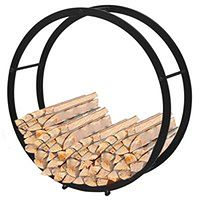 vidaXL Okrągły stojak, kosz na drewno kominkowe
