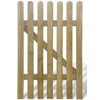 vidaXL Bramka ogrodowa, 100 x 150 cm, drewno FSC
