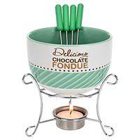 Ceramiczny zestaw do czekoladowego fondue dla 4 osób