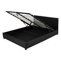 Łóżko z pojemnikiem Veronica, 160x200, czarne