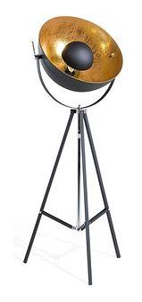 Lampa stojąca - podłogowa w kolorze czarnym - oświetlenie - THAMES II