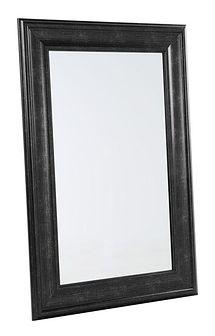 Lustro ścienne czarne 60 x 90 cm LUNEL