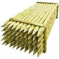 vidaXL Zaostrzone słupki ogrodzeniowe 50 szt. drewniane 10x240 cm