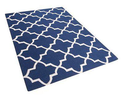 Dywan niebieski wełniany 160x230 cm SILVAN