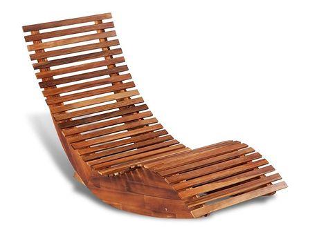 vidaXL Leżak bujany z drewna akacjowego